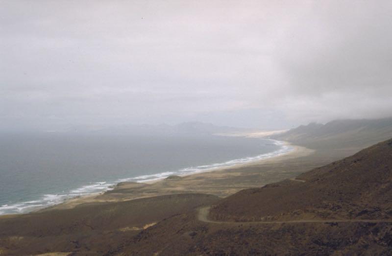 Strand und Bucht von Cofete, im Südwesten von Fuerteventura.