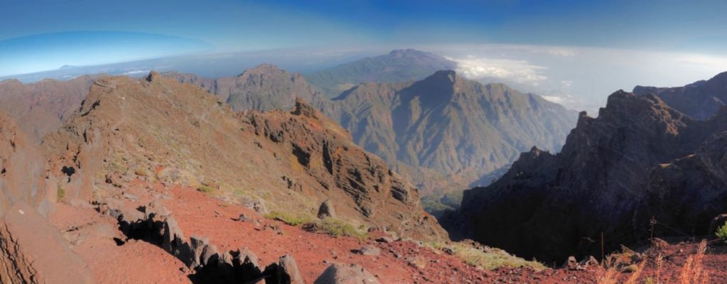 La Palma, Caldera de Taburiente von Roque de los Muchachos aus.