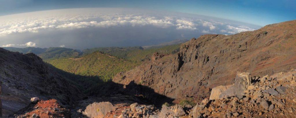 Blick vom Roque de los Muchachos auf die Nordseiten von La Palma.