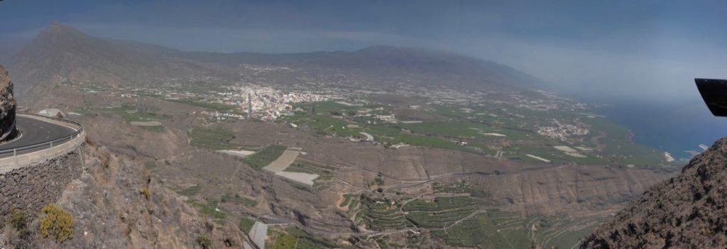 Blick auf Tazacorte, vom Mirador de el Time aus.